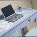 Desk with 1 door 1 drawer