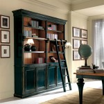 4 doors bookcase with stair