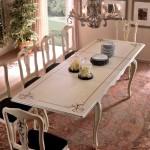 Tavolo rettangolare con 2 allunghe