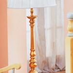 Base lampada foglia oro